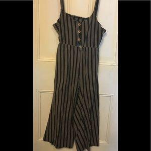 Ardene l Striped Jumpsuit